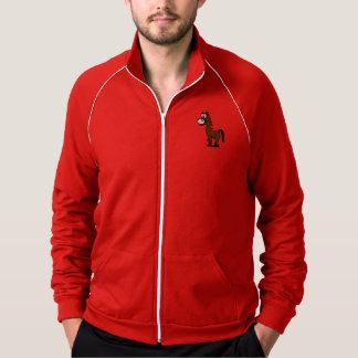 Horse cute animal motifs jacket
