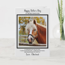 Horse Dad - Funny Father's Day Horse Photo Card