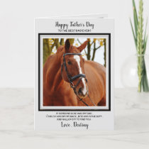 Horse Dad - Funny Horse Photo Father's Day Card