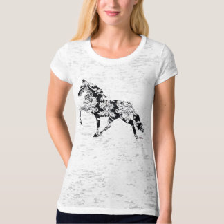 Horse damask graphic art on tee