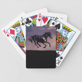 Horse dance at sunset playing cards