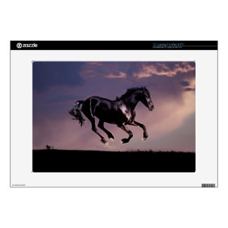 Horse dance at sunset laptop decals