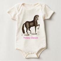 Horse Dance - DANCING HORSE Baby Bodysuit