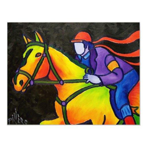 Horse Dashing 4.25x5.5 Paper Invitation Card