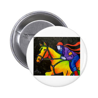 Horse Dashing Pinback Button