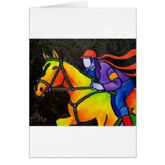 Horse Dashing Greeting Card