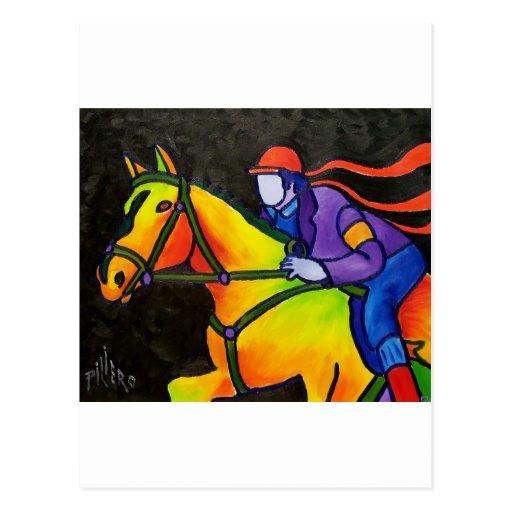 Horse Dashing Postcard