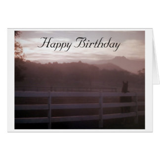 """""""HORSE-DAWN TO DUSK ON YOUR SPECIAL DAY"""" BIRTHDAY! GREETING CARD"""