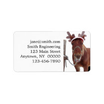 Horse deer - christmas horse - funny horse label