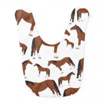 Horse Design Baby Bib