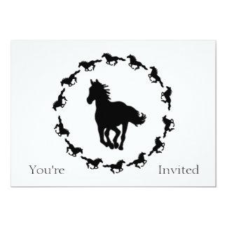 Horse Design Silhouette Card
