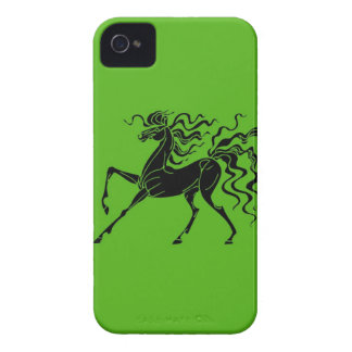 Horse design with crazy hair iPhone 4 Case-Mate case