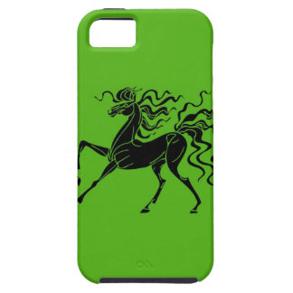 Horse design with crazy hair iPhone SE/5/5s case