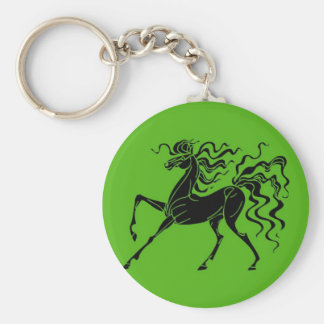 Horse design with crazy hair keychain