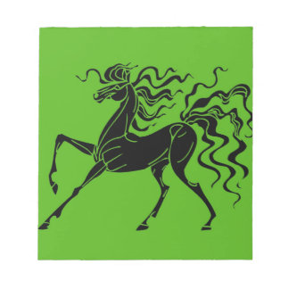 Horse design with crazy hair notepad