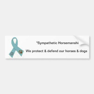 Horse & dog abuse sticker bumper sticker