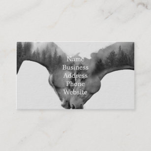 Horse business cards templates zazzle horse double exposure horses in love wild horses business card colourmoves