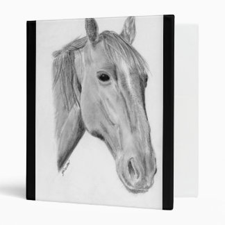 Horse drawing art Avery Binder