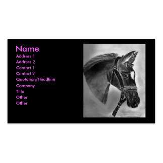 Horse drawing Double-Sided standard business cards (Pack of 100)