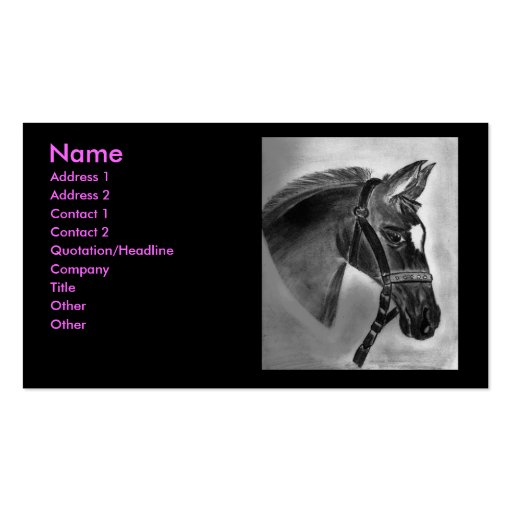 Horse drawing business card