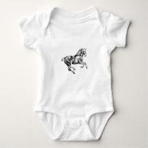 Horse drawing sketch art handmade baby bodysuit