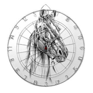 Horse drawing sketch art handmade dartboards