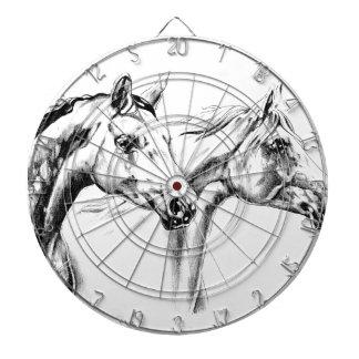 Horse drawing sketch art handmade dart board