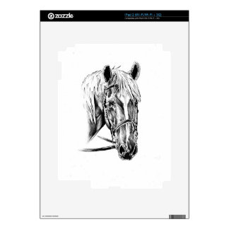 Horse drawing sketch art handmade decals for iPad 2