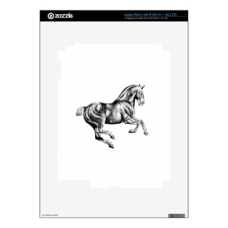 Horse drawing sketch art handmade decals for iPad 3