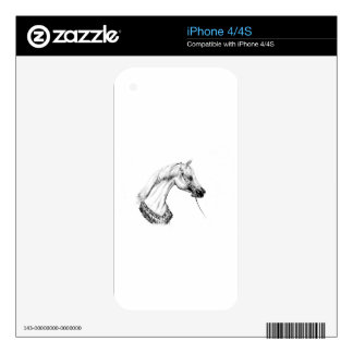 Horse drawing sketch art handmade decals for iPhone 4