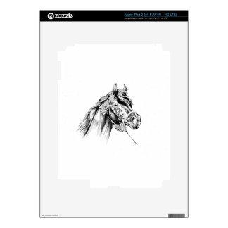 Horse drawing sketch art handmade iPad 3 decal