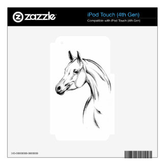 Horse drawing sketch art handmade iPod touch 4G decal