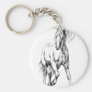 Horse drawing sketch art handmade keychain