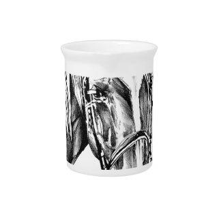 Horse drawing sketch art handmade pitchers