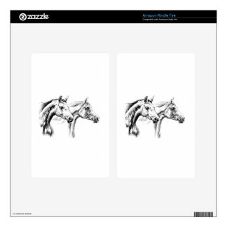 Horse drawing sketch art handmade skin for kindle fire
