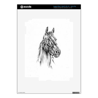 Horse drawing sketch art handmade skins for iPad 3