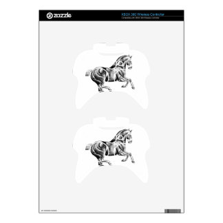 Horse drawing sketch art handmade xbox 360 controller decal