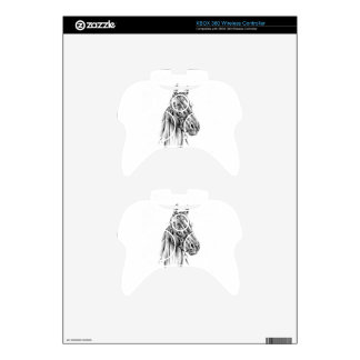 Horse drawing sketch art handmade xbox 360 controller skin