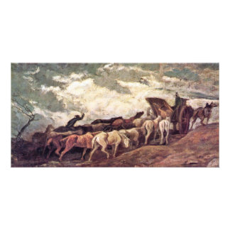 Horse-Drawn By Daumier Honoré Photo Cards