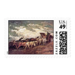 Horse-Drawn By Daumier Honoré Stamps