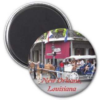 Horse Drawn Carriage 2 Inch Round Magnet