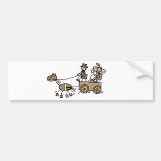 Horse Drawn Carriage For Weddings Car Bumper Sticker