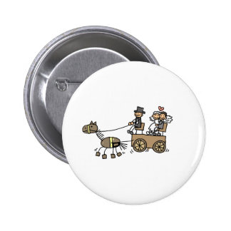 Horse Drawn Carriage For Weddings Button