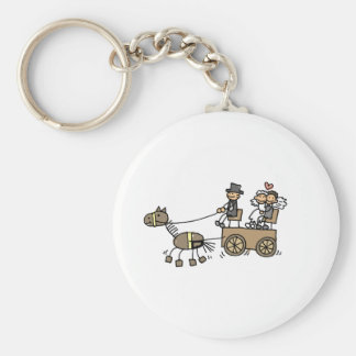 Horse Drawn Carriage For Weddings Keychain