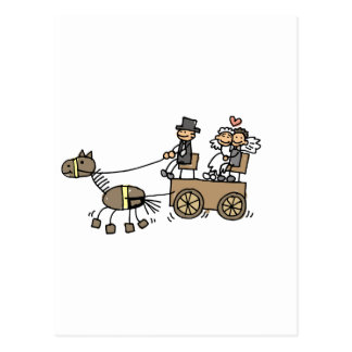 Horse Drawn Carriage For Weddings Postcard