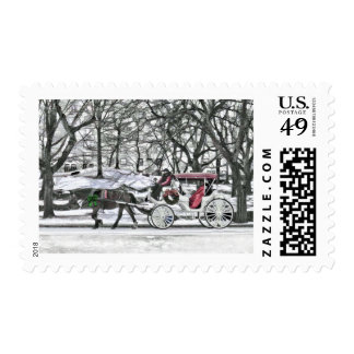 Horse Drawn Carriage in New York City Postage