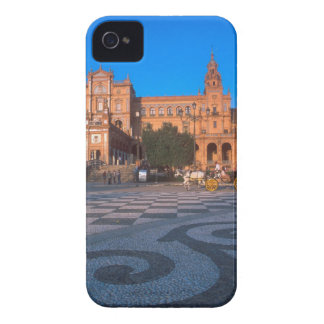 Horse drawn carriage in the Plaza de Espana in iPhone 4 Cases