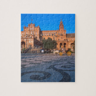 Horse drawn carriage in the Plaza de Espana in Jigsaw Puzzles