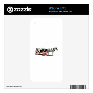 Horse Drawn Carriage Decal For The iPhone 4S