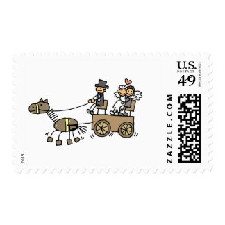 Horse Drawn Carriage Weddings RSVP Save The Date Postage Stamp